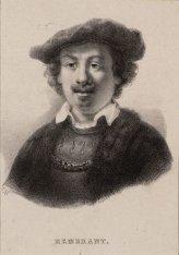 Portret van de schilder Rembrandt van Rijn (1606-1669)