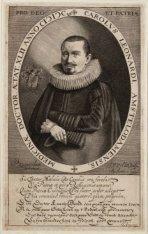 Portret van medicus Carolus Leonardi (1587- na 1629). Techniek: gravure