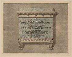 Monument voor Jan C.J. van Speyk aan de binnenplaats van het Jongensweeshuis van…