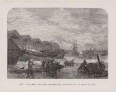 Het afloopen van het Stoomschip Amsterdam, (19 Februarij 1852)