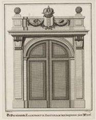 De Vernieuwde Raam Poort te Amsterdam van buyten te zien 1776