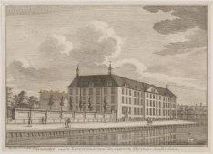 Gezigt van ''t Luthersche-Diakonie Huis, te Amsterdam
