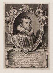 Portret van hoogleraar en dichter Casper van Baerle (1584-1648)