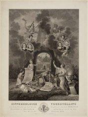 Zinnebeeldige voorstelling ter Gedachtenis aan het Tweede Eeuwfeest van het Athe…