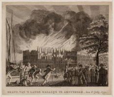 BRAND, VAN 'S LANDS MAGAZIJN TE AMSTERDAM, den 6e Julij, 1791