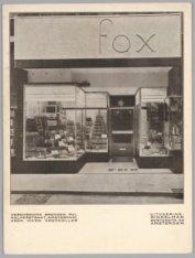 Verchroomd bronzen winkelpui van Lederwarenzaak Fox