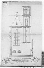 Zijgevel van de Posthoornkerk, Haarlemmerstraat 124