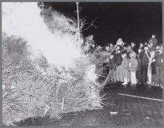 Kerstboomverbranding op het Museumplein
