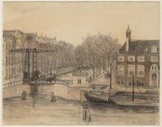 De Amstel gezien naar Brug 237 naar de Nieuwe Herengracht met rechts de hoek van…