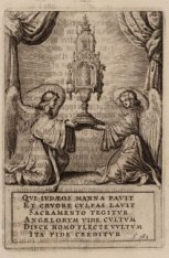 Het Mirakel van Amsterdam in 1345 en de daarop volgende wonderen. Bidprentje. Te…
