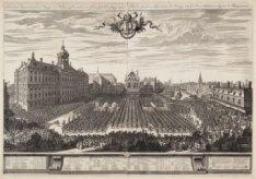 Amsterdamse Kermis, vertonende de Burgery in de Wapenen, sig Presenteerende aan …