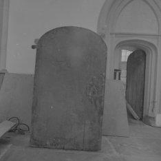Dam 12, Nieuwe Kerk, binnendeur. Ommezijde van BMAB00031000077_002
