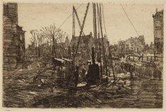 Bouwput van de galerij aan de Raadhuisstraat 23-53, de Herengracht 194 en de Kei…