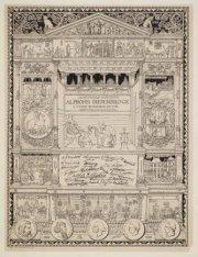 Promotieplaat van Alphons Diepenbrock, 1888