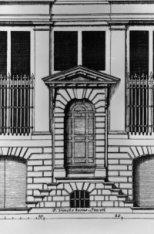 Keizersgracht 319, bouwtekening vooraanzicht, voordeur, architect Philips Vingbo…