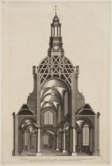 Coepel Kerk doorgesneeden in ''t perspectieg te zien, getekent door Dirk Truer M…