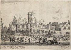 Het oude Stathuis tot Amsterdam verbrant den 7 Juli [1652]
