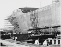 Bouwstadium van de tanker ms. Doha