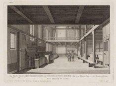 De Jan Jacobsgezinden-Mennoniten-Kerk, in de Bloemstraat te Amsterdam, van binne…