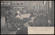 Bezoek van H.M. Koningin Wilhelmina aan Amsterdam. Uitgave Jos Nuss, Amsterdam