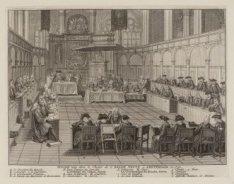 Synode tenue dans le Choeur de L''Eglise Neuve, à Amsterdam, en 1730