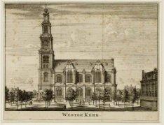 Westerkerk, Prinsengracht 279-281 gezien uit zuidelijke richting