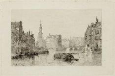 De Amstel gezien naar het Sophiaplein met Munttoren