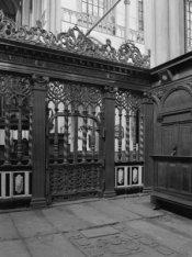 Nieuwezijds Voorburgwal 143, Nieuwe Kerk, detail van het koorhek