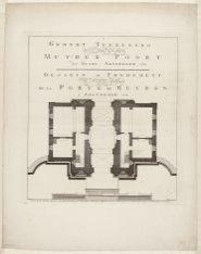 Grondt Teekening van de Nieuw Gebouwde Muyder Poort der Stadt Amsterdam 1770