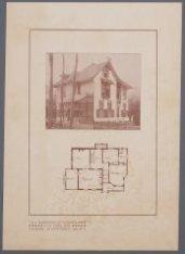 Villa Trompenberg te Hilversum, ontworpen door architect G.A. van Arkel. Reprodu…