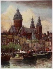 Het Open Havenfront naar de Schreierstoren, Prins Hendrikkade 94-95, Geldersekad…