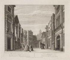 Serie van zes gravures door R.H. Vinkeles: Decors in gebruik bij de Nieuwe Schou…
