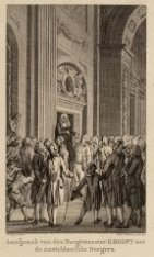 Aanspraak van de Burgemeester H. Hooft aan de Amsteldamsche Burgers