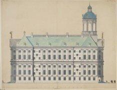 Zijgevel van het Stadhuis