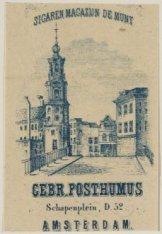Sigaren Magazijn De Munt, Gebroeders Posthumus, Schapenplein, D 52