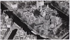 Luchtfoto van de Prinsengracht en omgeving gezien in noordwestelijke richting