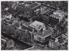 Luchtfoto van de Herengracht en omgeving gezien in zuidoostelijke richting