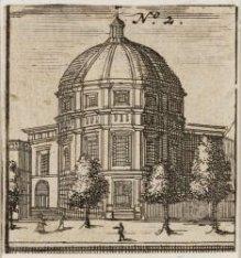 Ronde Lutherse Kerk, Singel 11. Techniek: ets