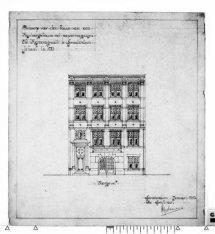 Bouw van een papieropslagplaats met kantoorgebouw aan de Keizersgracht 28-36 (26…