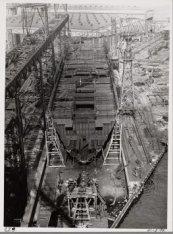 Het vrachtpassagiersschip ms. Jagersfontein in aanbouw