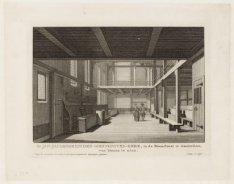 De Jan-Jacobsgezinden-Mennonite-Kerk, in de Bloemstraat te Amsterdam, van binnen…