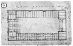 Schets-verdeeling der Zitplaatsen op de Gaanderij der Nieuwe Wale kerk