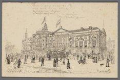 Het Leidscheplein in 1885. (In ''t Album van Mevrouw M.J. Kleine-Gartman)