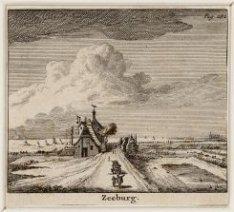Zeeburgerdijk in het verkort gezien in oostelijke richting. Op de achtergrond: H…