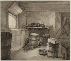 Diaconie Oude Vrouwen- en Mannenhuis, Amstel 51, interieur: kelder