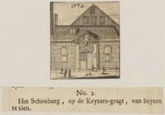 Het Schouburg, op de Keyzers-gragt, van buyten te zien
