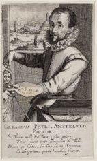 Portret van Gerrit Pietersz Sweelinck (1566-1645), schilder te Amsterdam en broe…
