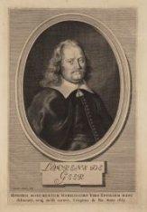 Portret van predikant Laurens de Geer (1624-1666). Techniek: gravure