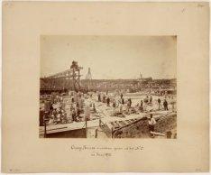 Oranjesluizen in aanbouw gezien uit het N.O., 20 Junij 1870