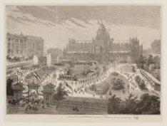 Tuinbouwtentoonstelling 1877. Vogelperspectief van het voorterrein der Tentoonst…
